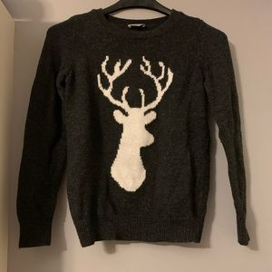 Gray deer sweater